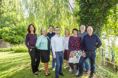 Sebastian Grünwald und sein Wahlkampfteam